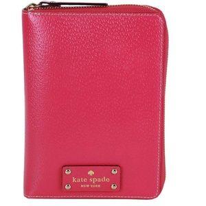 Kate Spade pink leather Wellesley Planner Agenda